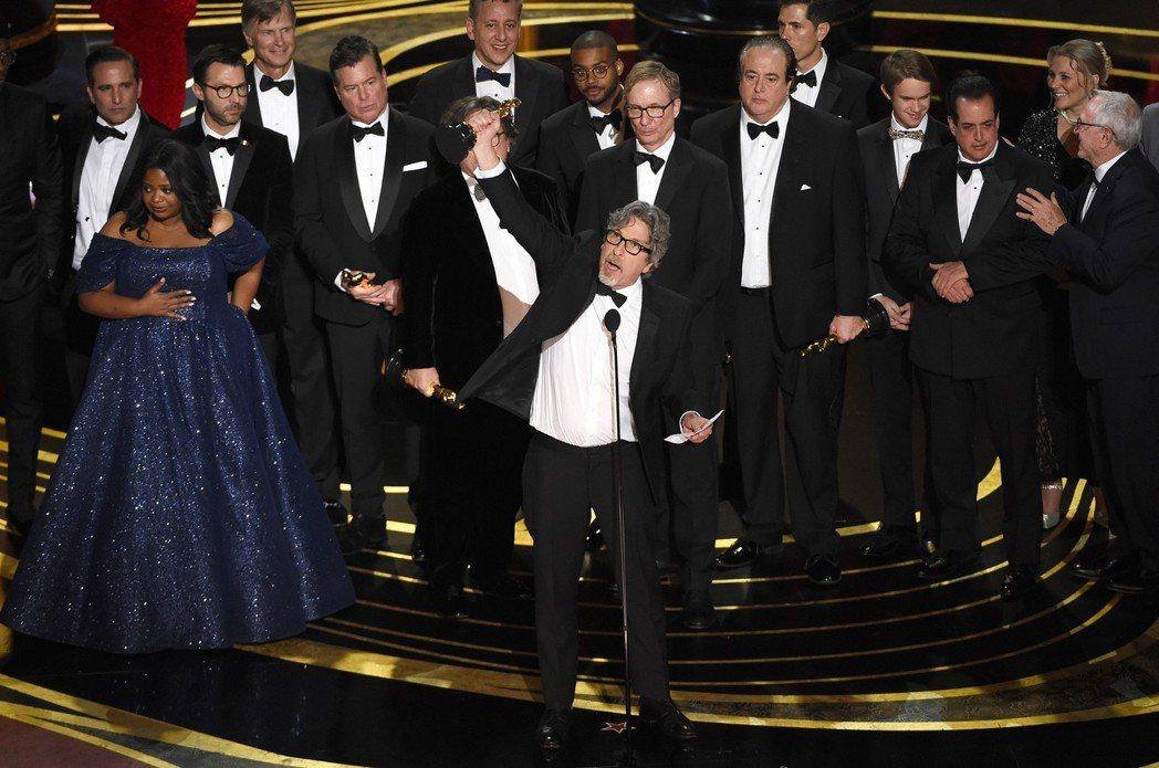 「幸福綠皮書」獲得奧斯卡最佳影片。 圖/美聯社