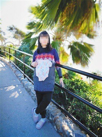 2019年,小滾珠在美國待產。 圖/擷自新京報網