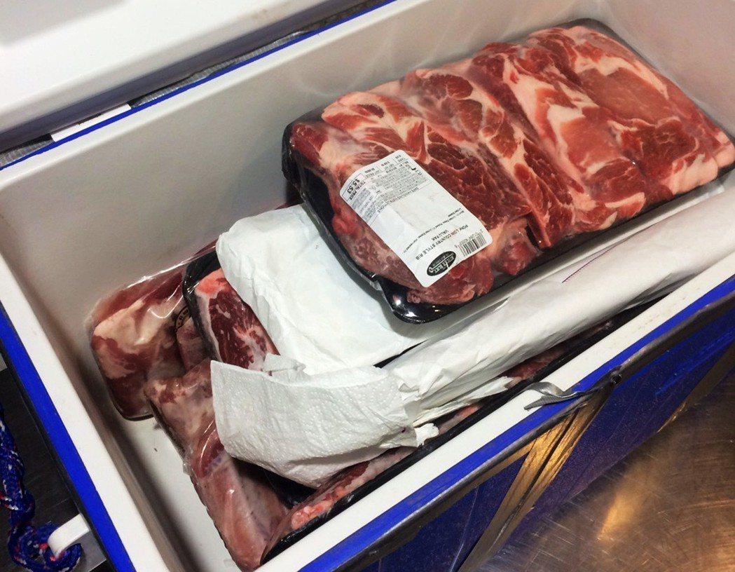 有旅客從美國帶豬肉來台灣,被海關查獲送防檢局開罰1萬元。 圖/聯合報系資料照片