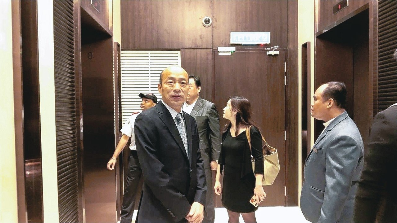高雄市長韓國瑜出訪馬來西亞,疑受到壓力,行程一再更改。 特派記者蔡孟妤/攝影