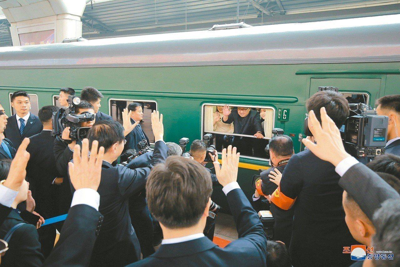 金正恩的專屬列車。路透
