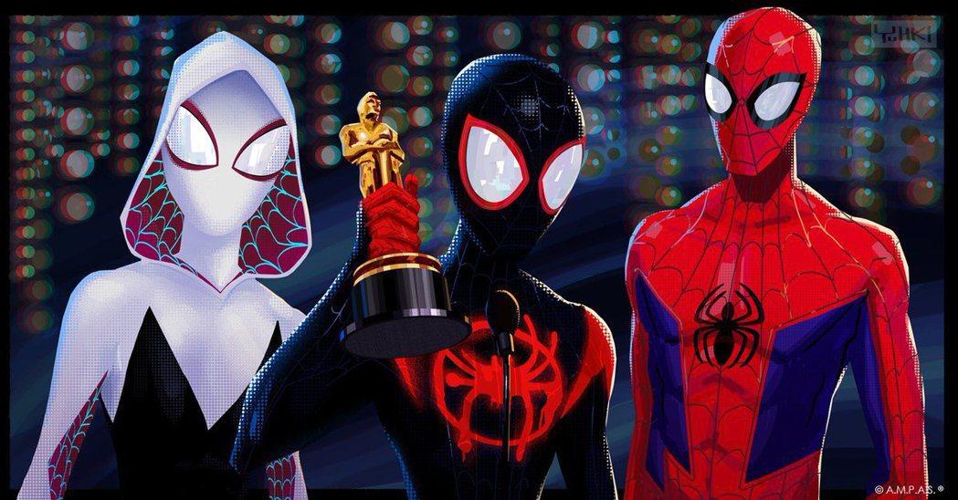 《蜘蛛人:新宇宙》官方推特賀圖