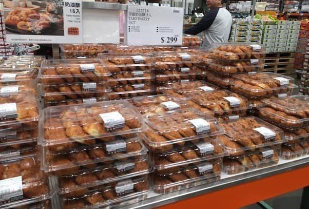 網友在台中店看到滿滿的芋頭酥,不用排隊搶購。 圖片來源/Costco好市多 商品...