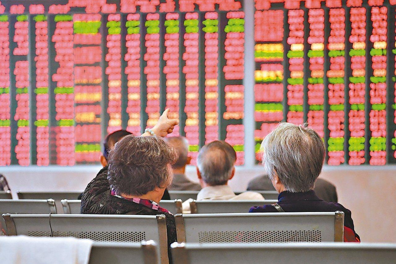 陸股今天大漲。報系資料照
