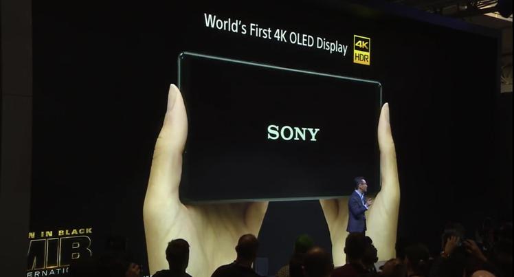 Xperia 1同時也是全球第一支4K HDR OLED手機。圖/摘自發表會