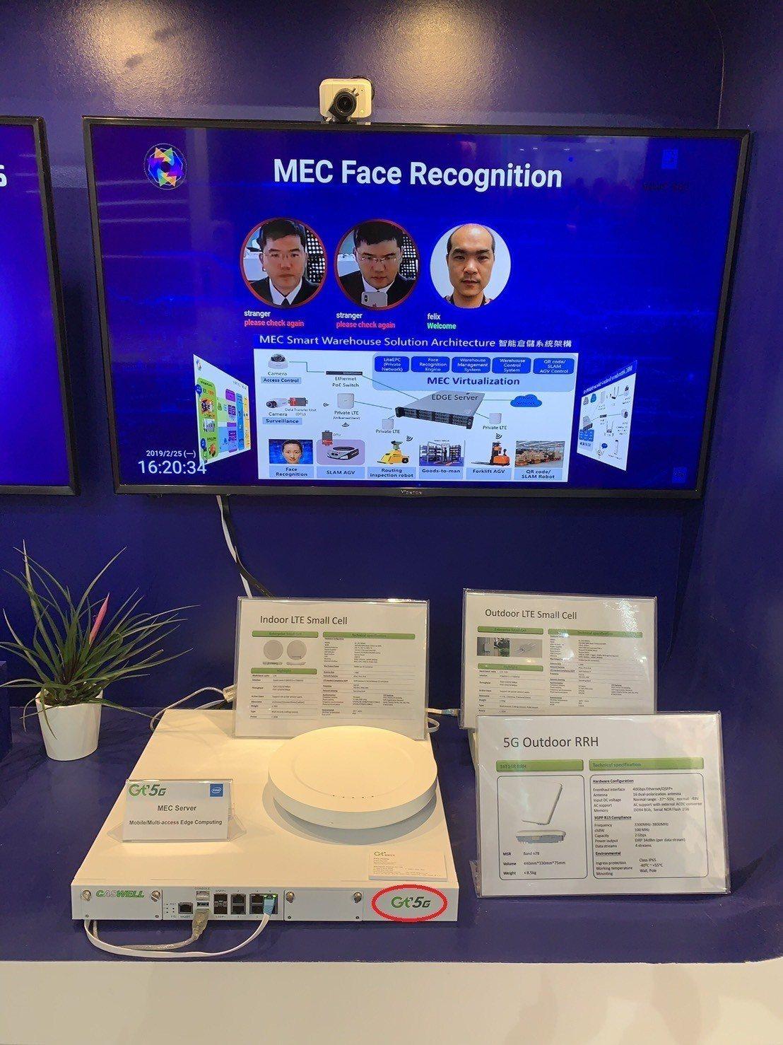 亞太電MEC人臉辨識解決方案。 圖/亞太電提供