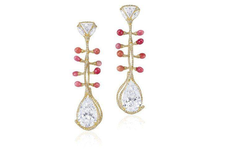 CINDY CHAO The Art Jewel建築系列孔克珠耳環,18K黃金搭...