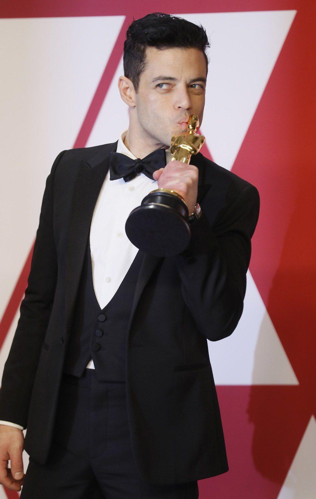 雷米馬利克以「波希米亞狂想曲」拿下本屆奧斯卡影帝。(歐新社)