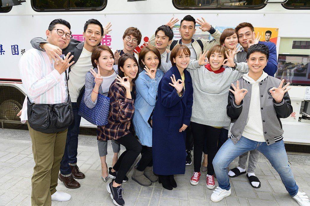 「女力報到」演員群響應捐血。圖/TVBS提供