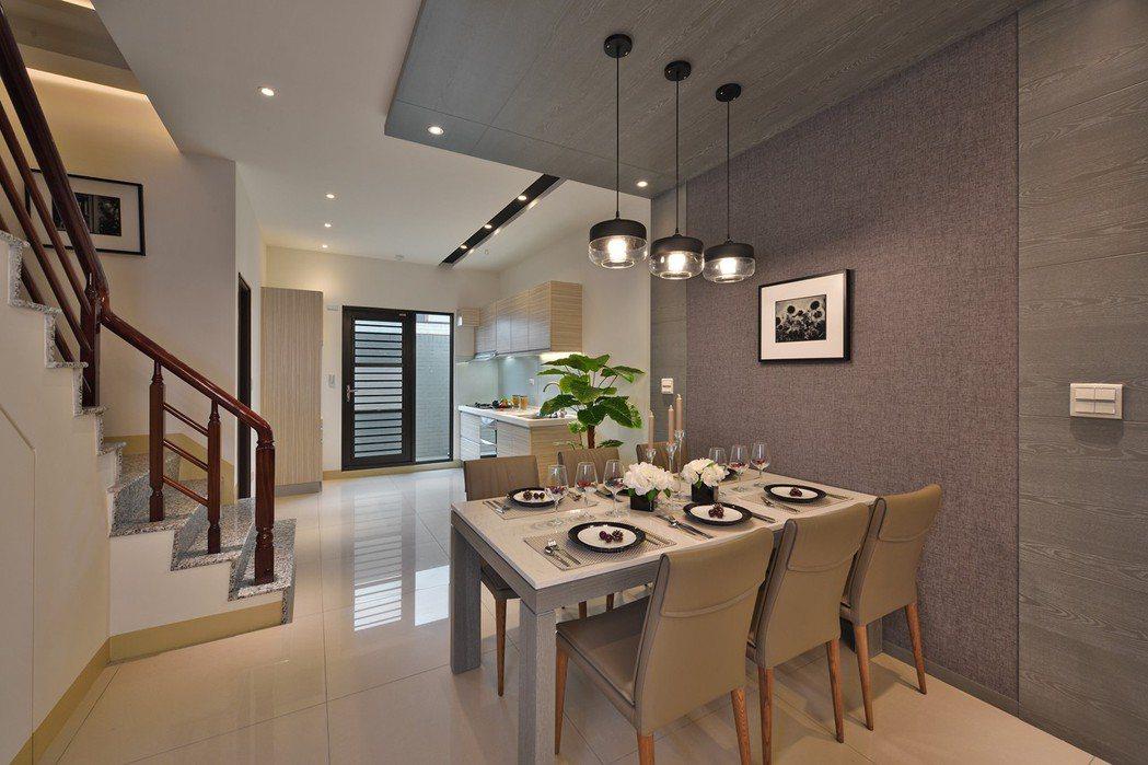 闔家歡宴餐廚空間。圖片提供/峻葳建設