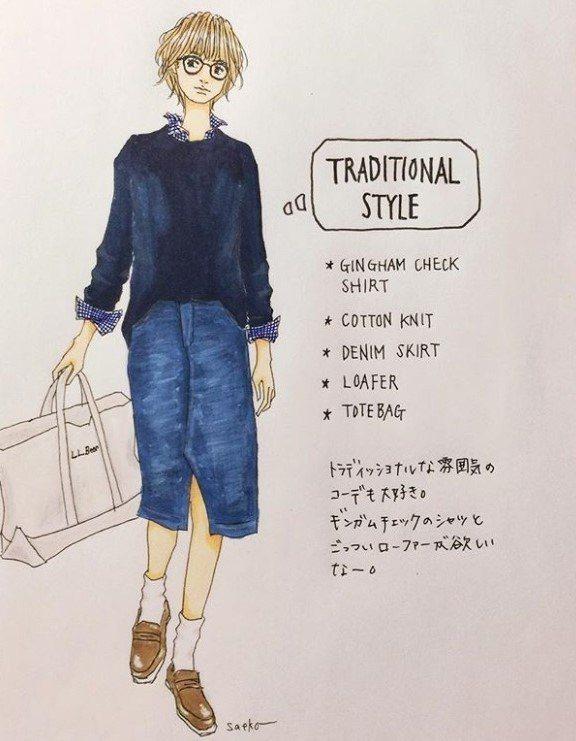 襯衫加上針織衣是不敗經典,穿上同色系的單寧裙,再隨手拿個托特包,休閒又好看。圖/...