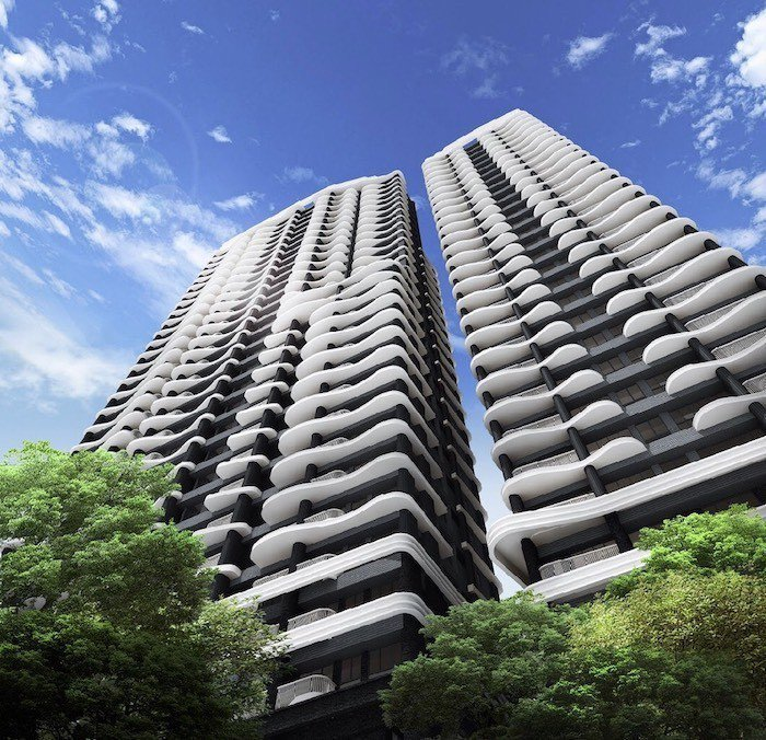 碧波白由澳洲建築團隊PTW所設計,創造出不同於當地的建築質感。 圖/業者提供