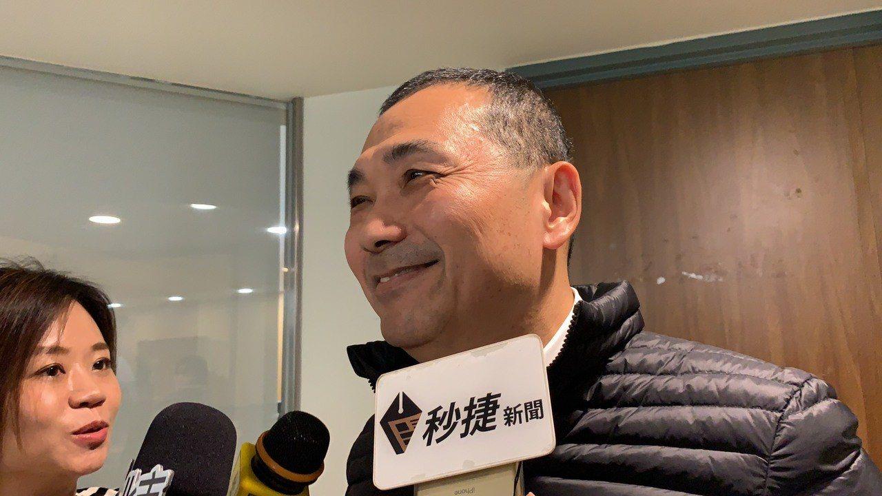 侯友宜對於周錫瑋宣布參選,表示樂觀其成。記者張曼蘋/攝影