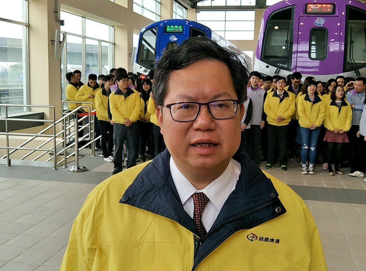 桃園市長鄭文燦(見圖)向桃捷員工宣布,今年加薪百分之三,追溯自今年一月一日起實施...