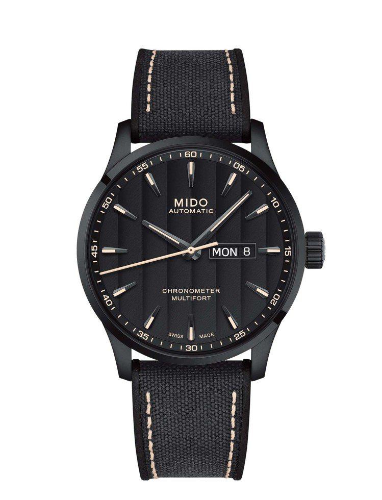 先鋒Multifort Chronometer系列腕表,碳黑色PVD不鏽鋼表殼,...
