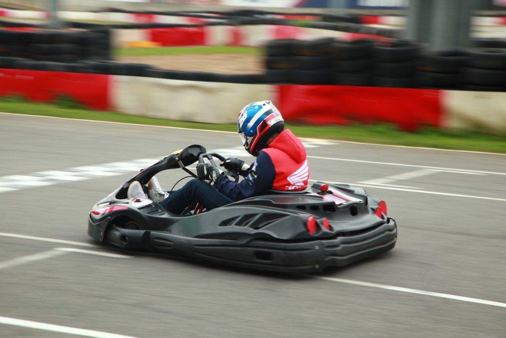 台中麗寶國際賽車場享受極速奔馳的Go Kart卡丁車。圖/麗寶樂園提供
