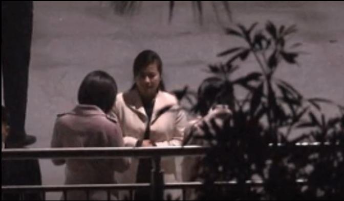 金正恩的前女友、北韓牡丹峰樂團團長玄松月隨團訪問。(香港01報導照片)