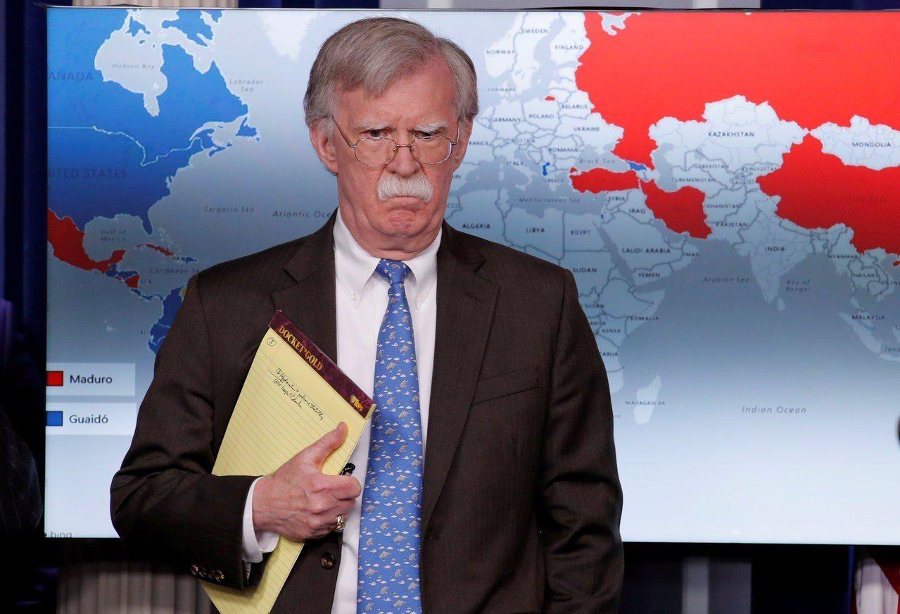 國家安全顧問波頓是出名的大鷹派。路透資料照片