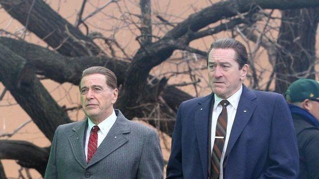 「愛爾蘭人」由艾爾帕西諾(左)與勞勃狄尼洛主演。圖/摘自sinemia