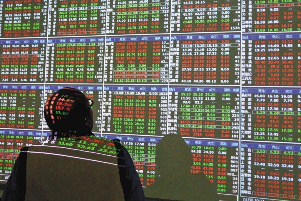 台股27日大盤指數終場收在10,389.17點,下跌2.38點,成交量1,331...