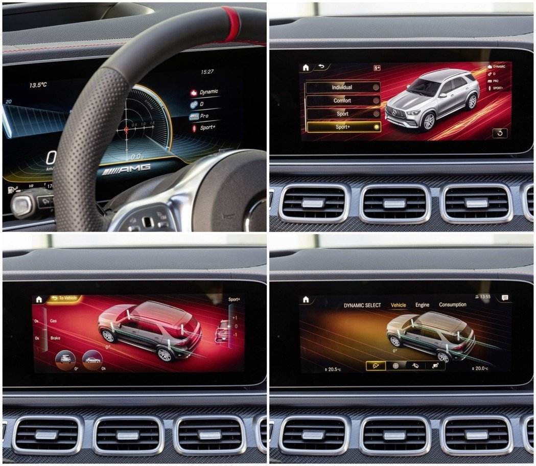 GLE 53有多種懸吊、動力模式可供駕駛自由選擇搭配。 摘自Mercedes