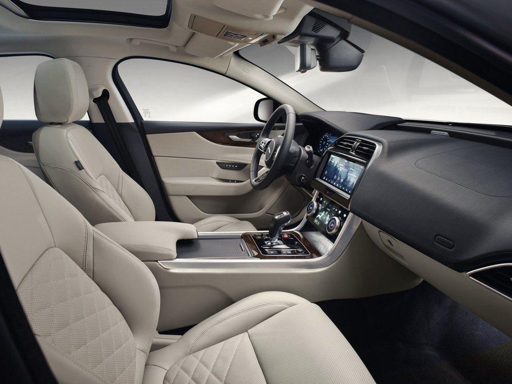 標準版的Jaguar XE車室內裝。 摘自Jaguar