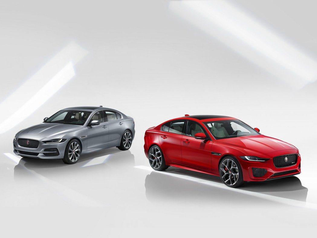 Jaguar XE 標準版本(左)、R-Dynamic版本(右)。 摘自Jagu...