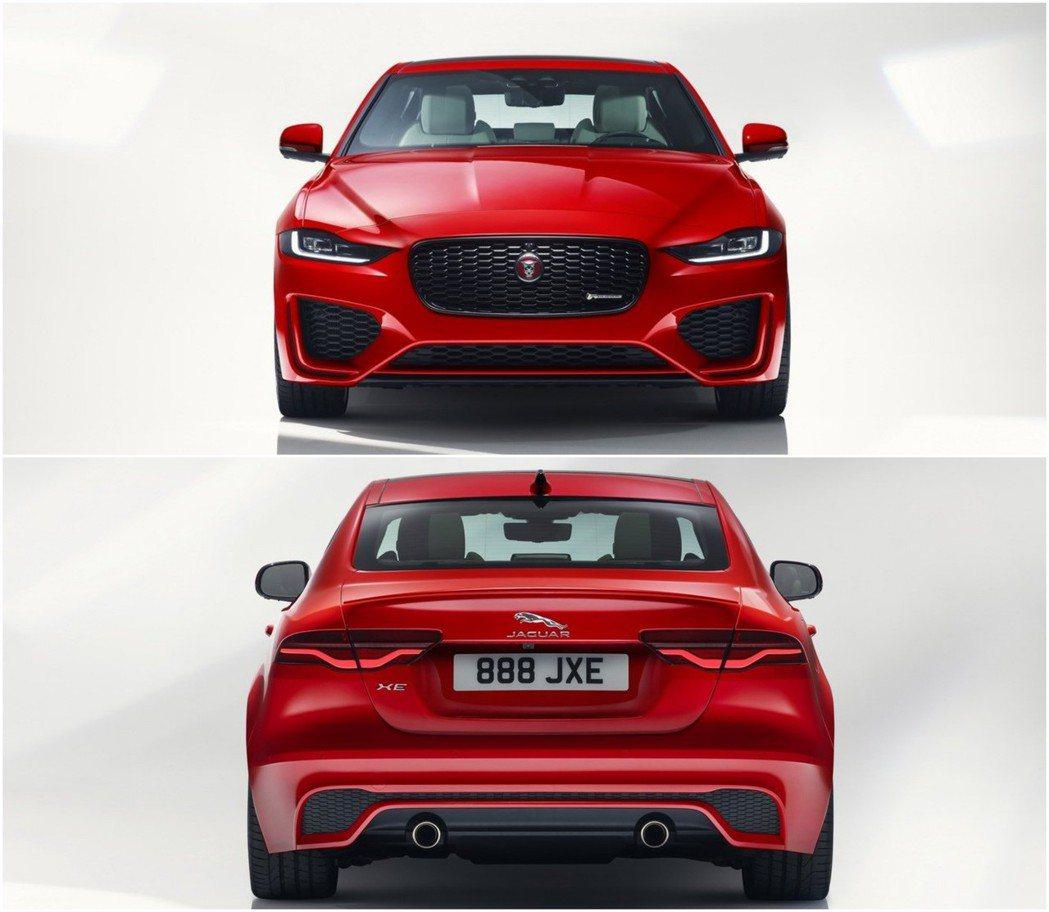 不管是前後保桿都比小改前多了一份運動感,前後燈組也更加銳利。 摘自Jaguar