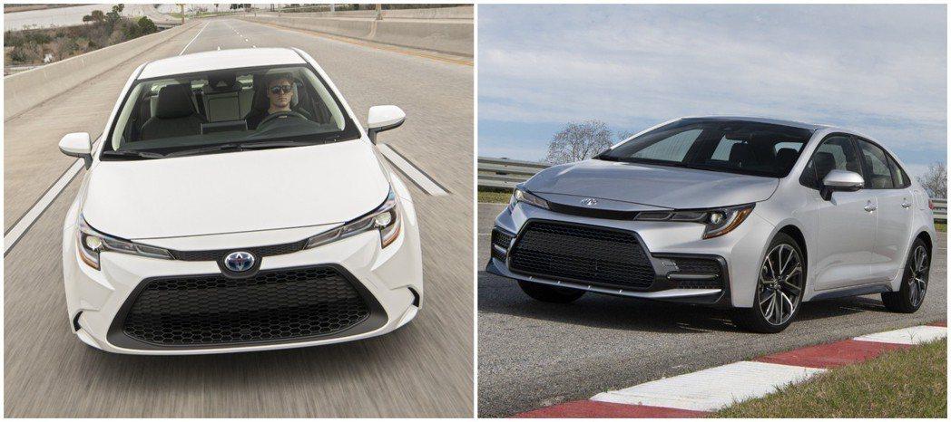 第12代Toyota Corolla Sedan最受矚目的車型,即為首度導入的1.8升Hybrid動力 (圖為美規Hybrid LE、SE車型)。 摘自Toyota