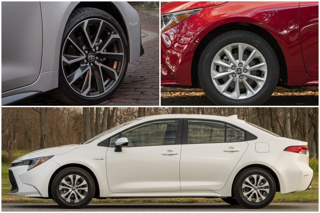 美規Toyota Corolla Sedan車系可依車型不同,選擇15吋、16吋或18吋鋁圈。 摘自Toyota