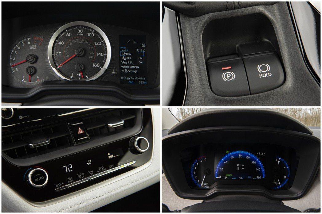 美規Toyota Corolla採用電子手剎車。 摘自Toyota