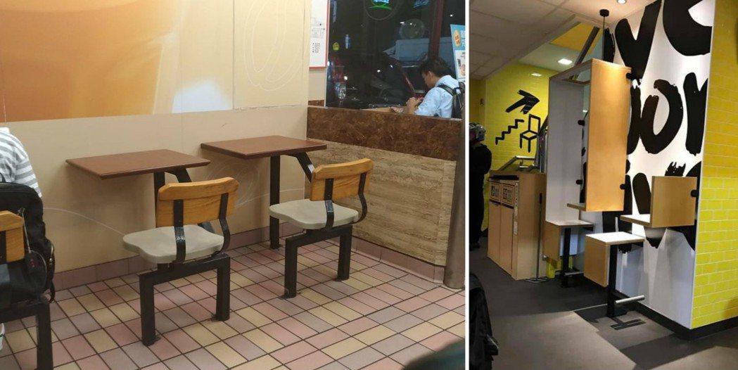 台灣其實也有不少速食店設置這種單人座位。 圖片來源/●【爆廢公社】●