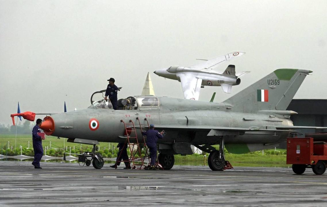印度的MIG-21,資料照片。 圖/美聯社