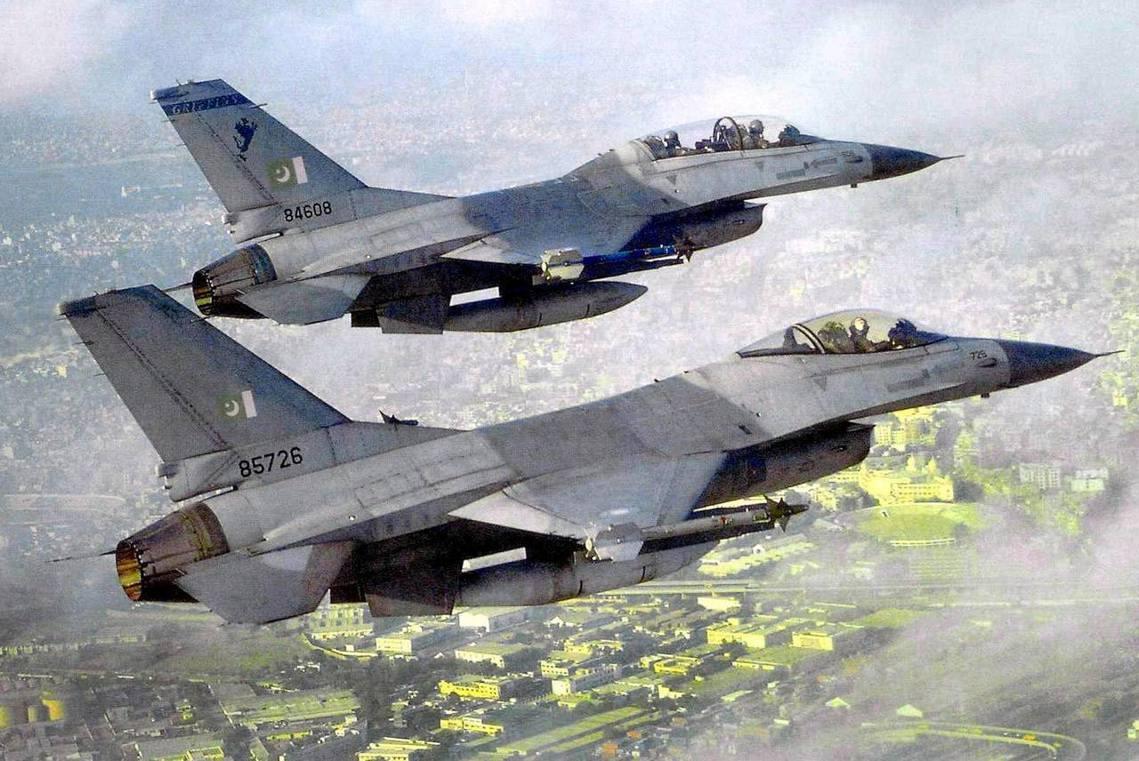 巴基斯坦的F-16,資料照片。 圖/歐新社