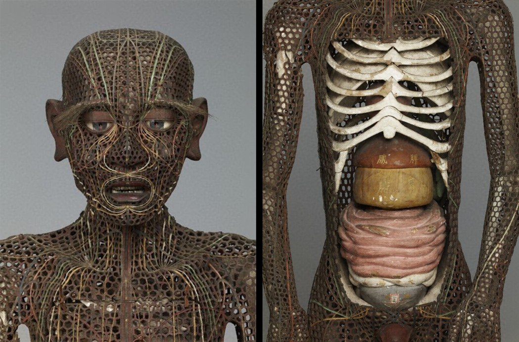 日本重要文化財:江戶時期的「銅人形」,約莫1662年前後製作,揉合西洋引進的醫學...