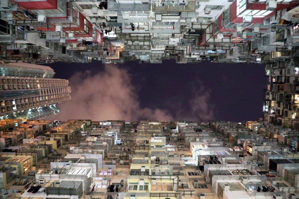香港鰂魚涌海山樓連同海景、益昌、益發、福昌,5座唐樓構成巨廈,有「怪獸大廈」之稱...