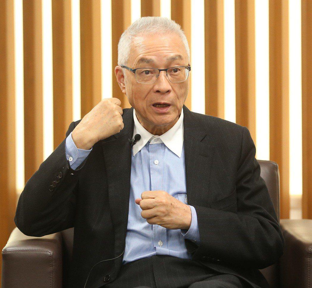 本報專訪國民黨主席吳敦義。記者林澔一/攝影