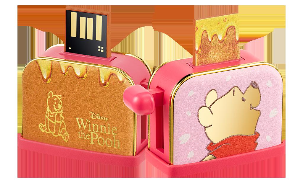 小熊維尼系列蜂蜜吐司隨身碟16GB,690元。圖/台灣迪士尼提供