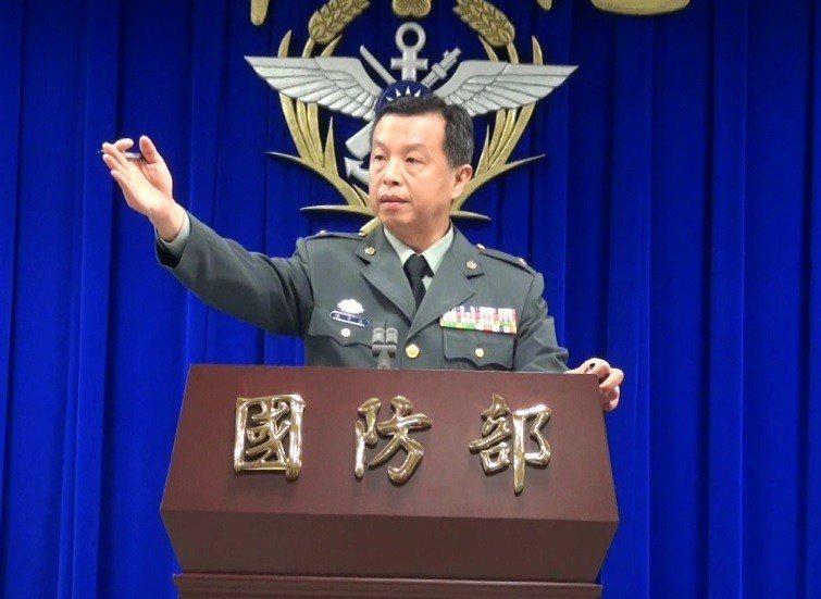 國防部發言人陳中吉。記者洪哲政/攝影