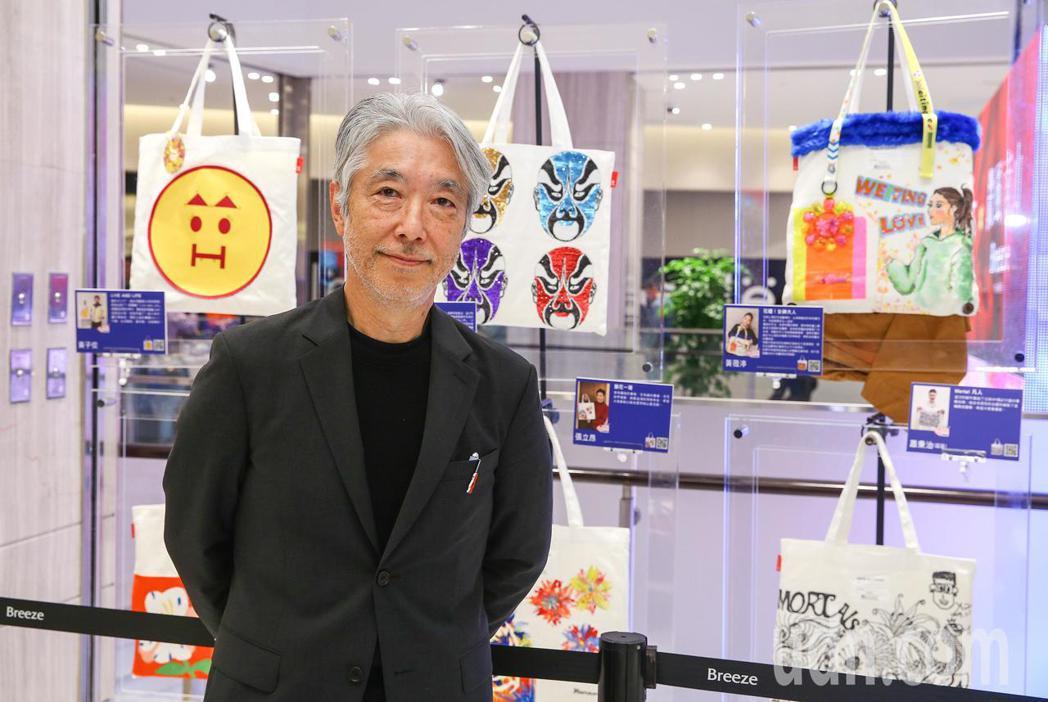 名人手繪包公益慈善義賣展開展,ROOTOTE JAPAN的神田社長。記者陳柏亨/...