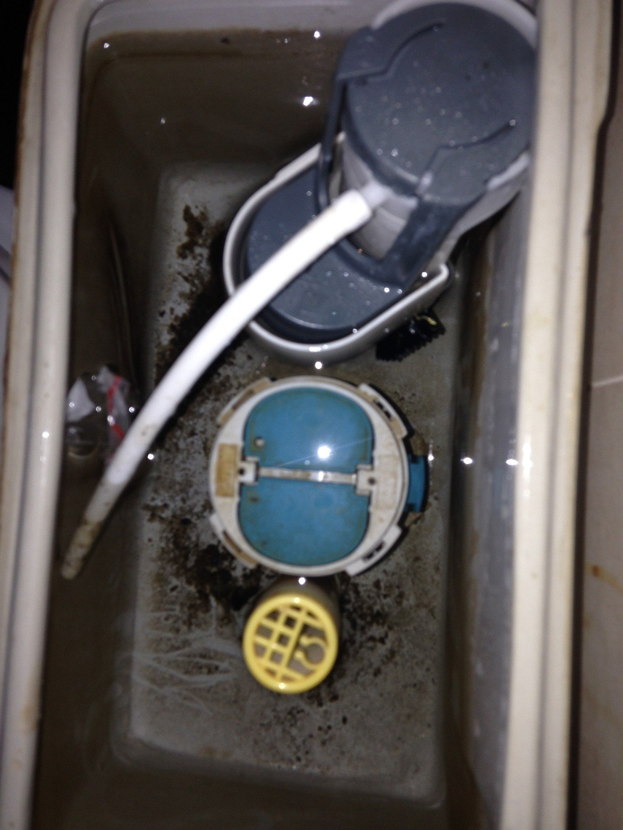 嫌犯將剩餘的毒品包裝丟入馬桶水箱內企圖煙滅證據,但仍被員警發現。記者巫鴻瑋/翻攝