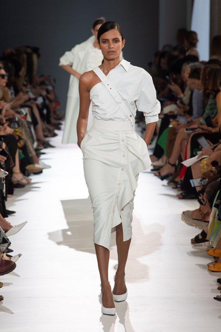Max Mara 2019春夏系列襯衫及裙裝。圖/Max Mara提供