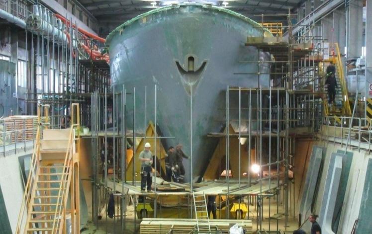 慶富公司須賠償海巡署16億餘元的違約金。圖/慶富提供