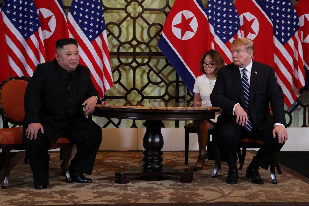 美國總統川普與北韓領導人金正恩在越南河內索菲特傳奇大都會酒店展開二次峰會的第二天...