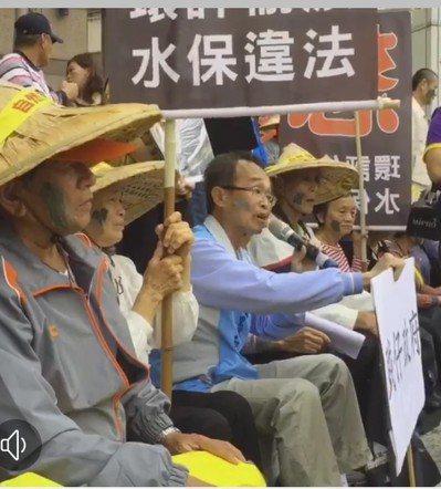 陳永和帶領鄉親北上抗議。 圖/聯合報系資料照片