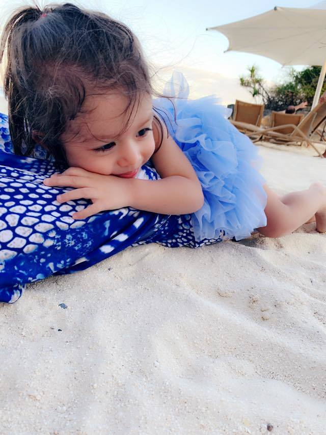 瑞莎的2歲女兒。 圖/擷自瑞莎臉書