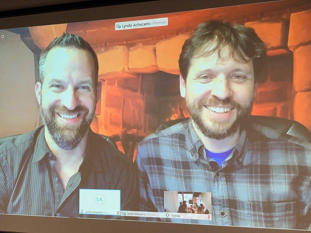 創意總監 Ben Thompson(左)與遊戲首席設計師Mike Donais(...