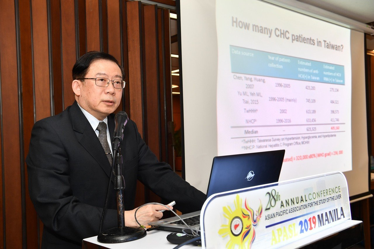 高嘉宏教授於亞太肝臟學會,分享台灣C肝防治的成功經驗。圖/高嘉宏提供