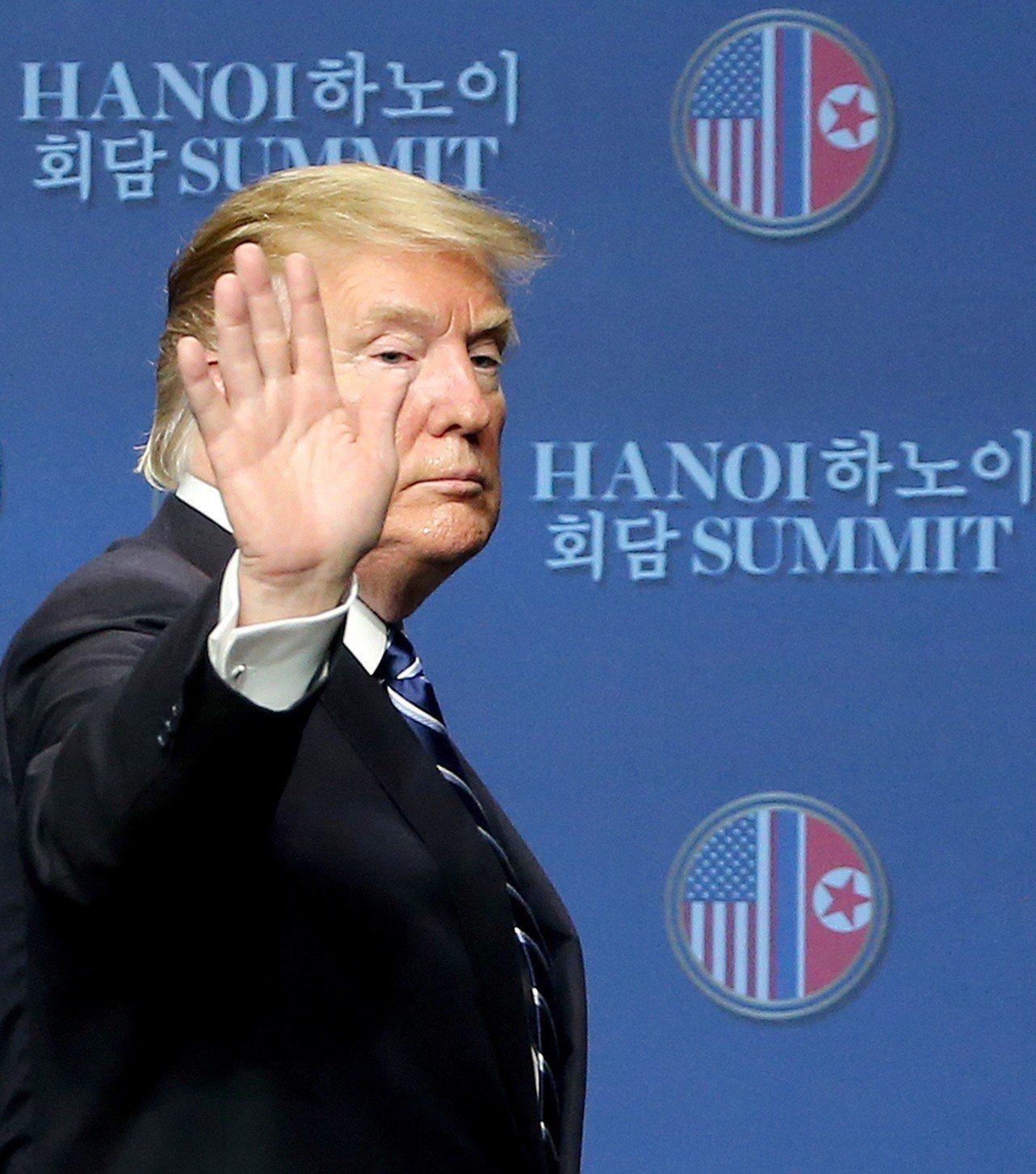 美朝峰會提前草草結束,原定簽署的共同協定也破局。圖為美國總統川普。歐新社