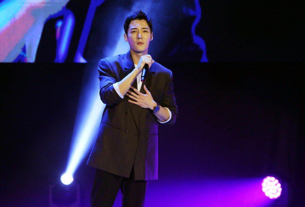 韓星崔振赫28日在台北國際會議中心舉辦粉絲見面會。記者林俊良/攝影